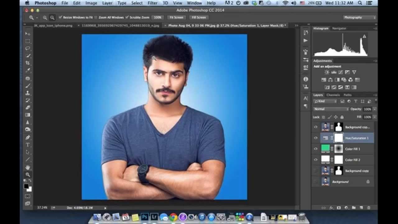 كيف تغير خلفية الصورة بالفوتوشوب How To Change Background In Photoshop Places To Visit Video Visiting
