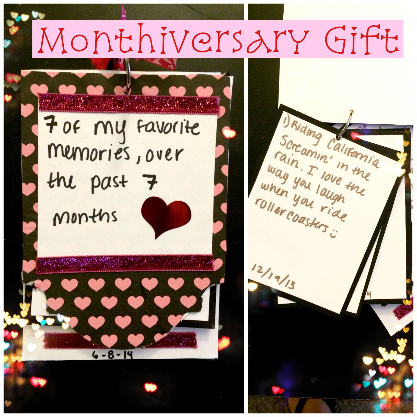 Monthiversary Gift Anniversary gift ideas for him