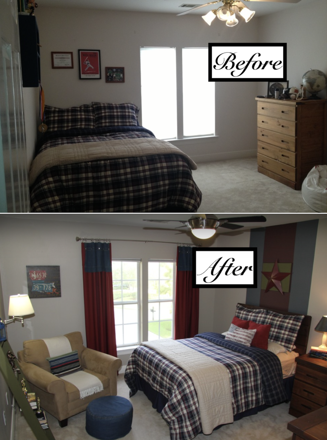 Inexpensive Design For A Teenage Boys Room Boy Blue Bedroom Decor