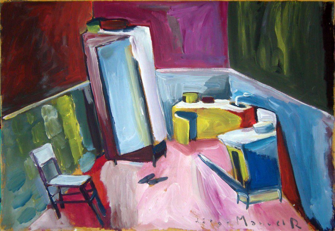 """""""Cocina de campo 3"""", acrylic on canvas, 45 x 65 cm. , 2000.."""