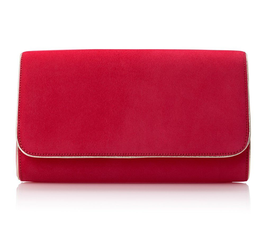 98a67622d07bc Natasha Lipstick & Gold. Emmy London Natasha Lipstick & Gold Calf  Leather, Leather Chain, Clutch Bag,