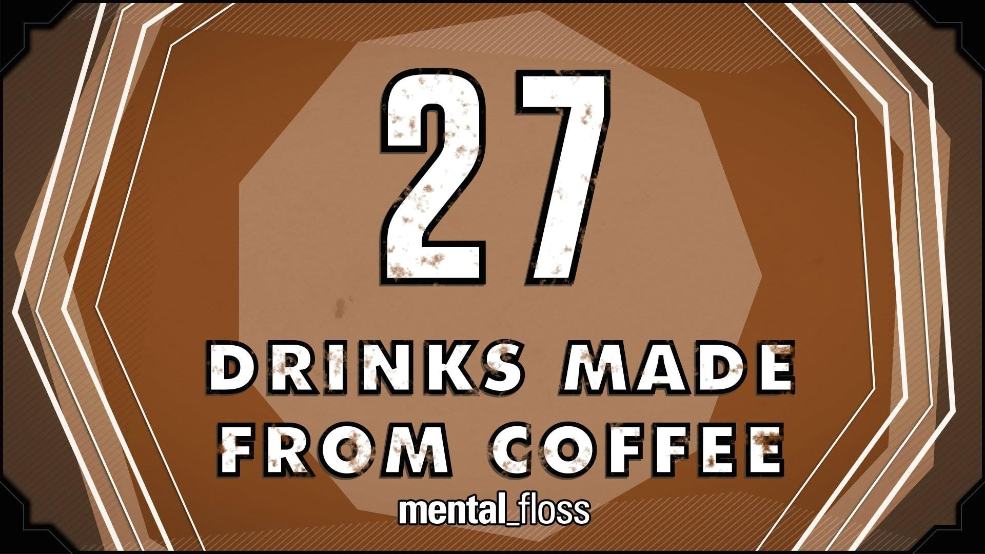 Various Drinks Made From Coffee in 2020 Drinks, Coffee