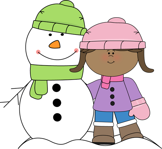 Girl With Snowman Clip Art Girl With Snowman Image Winter Clipart Clip Art Snowman Images