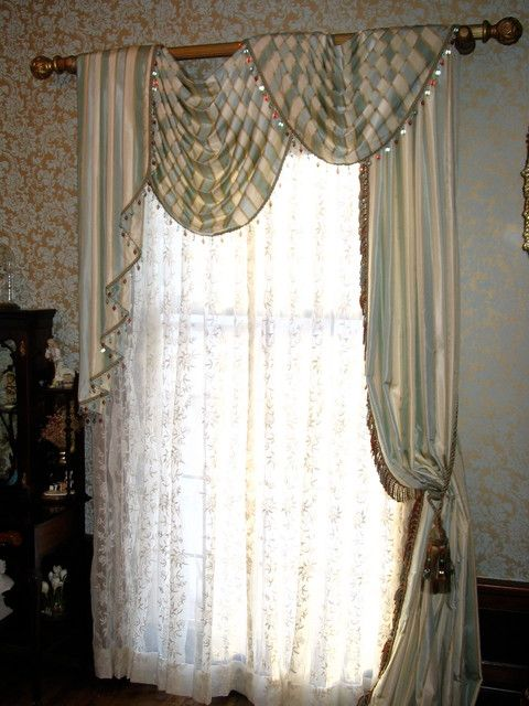 Traditional Window Treatments Love This For My Living Room With Its Huge Slider And The Fireplace On O Traditional Curtains Victorian Curtains Curtain Designs #traditional #curtains #for #living #room