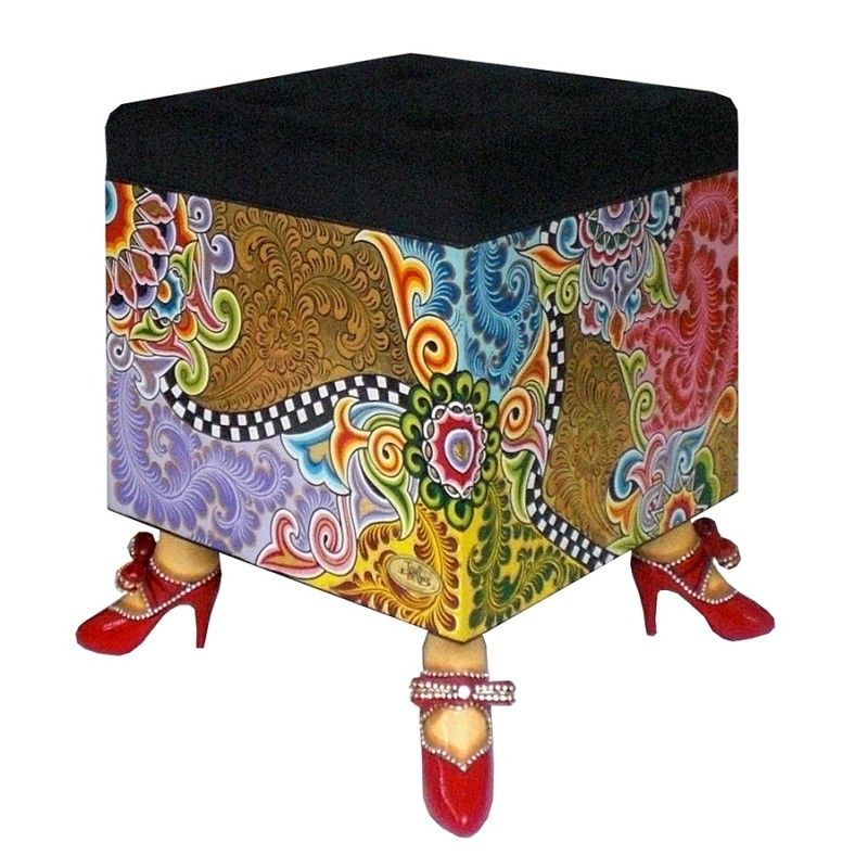 Tomscompany toms company - drag stool cube dimensions: wdh 40 x 40 cm x 50