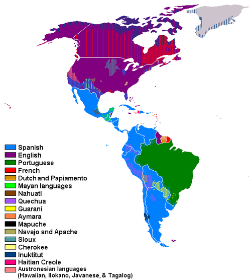 Languages Of North And South America Maps Pinterest