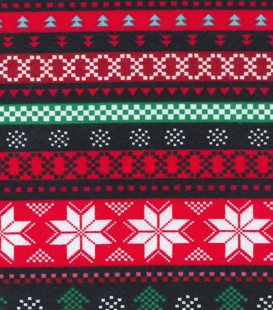 Holiday Inspirations Christmas Fabric Christmas Fair Isle Flannel ...
