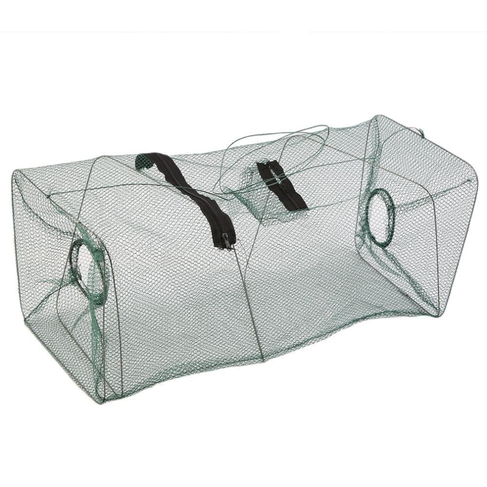 Fishing Bait Net Trap Cast Dip Cage Crab Fish Minnow Crawdad Shrimp Foldable FL