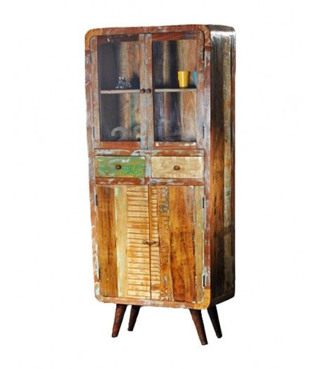 Apollo Retro vintage vitrinekast glass cabinet storage cabinet inspired on the sixties 60s