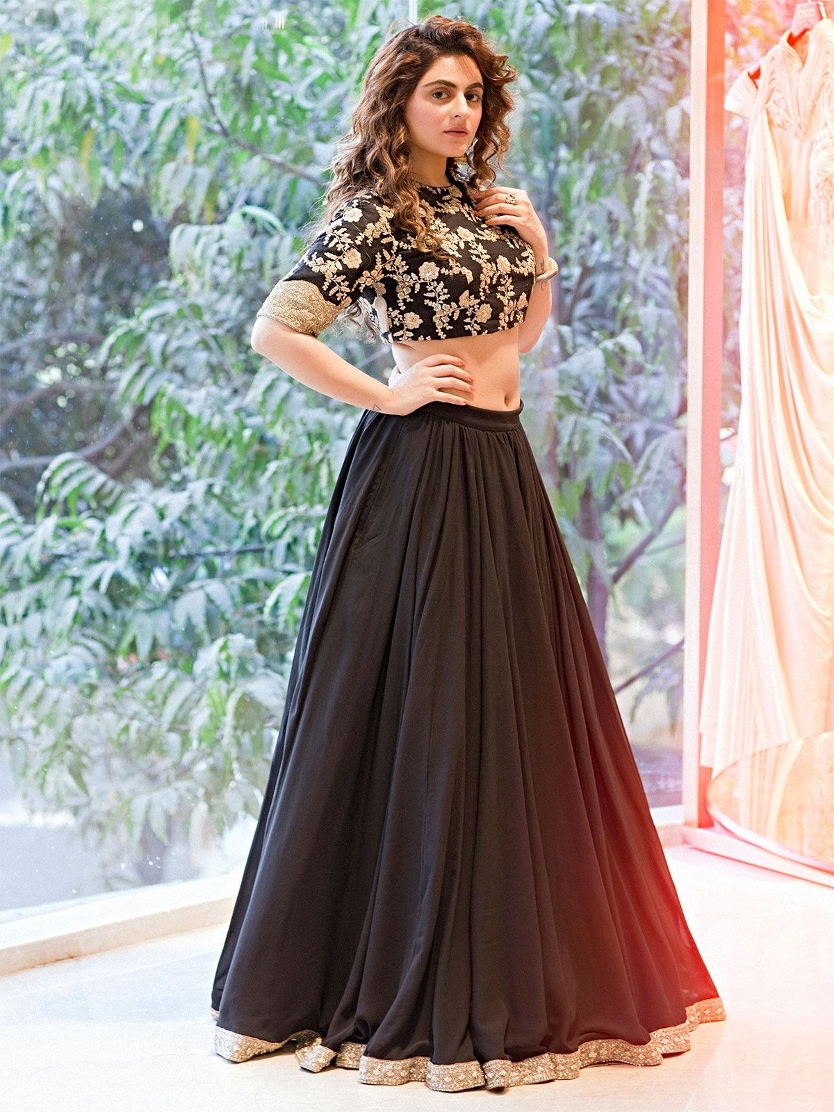 06fbf1655d ZaraaFab offering exclusive collection of designer beautiful black party  wear lehenga choli with high quality fabric and newest style.