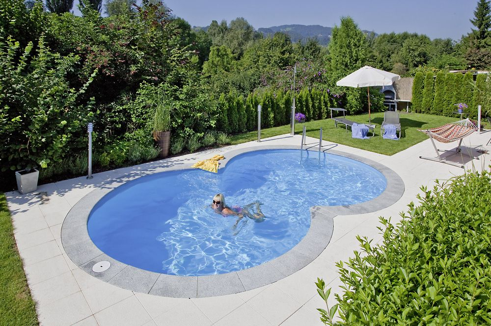 Achtformpool Pool selber bauen Pool Ideen zum Schwimmen und - schwimmbad selber bauen
