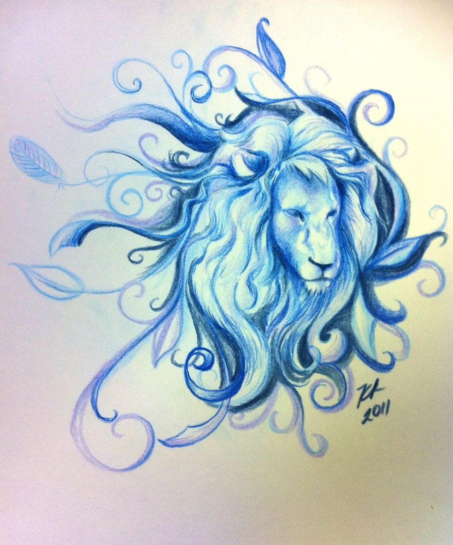 Blue Lion by knezak.deviantart.com on @deviantART