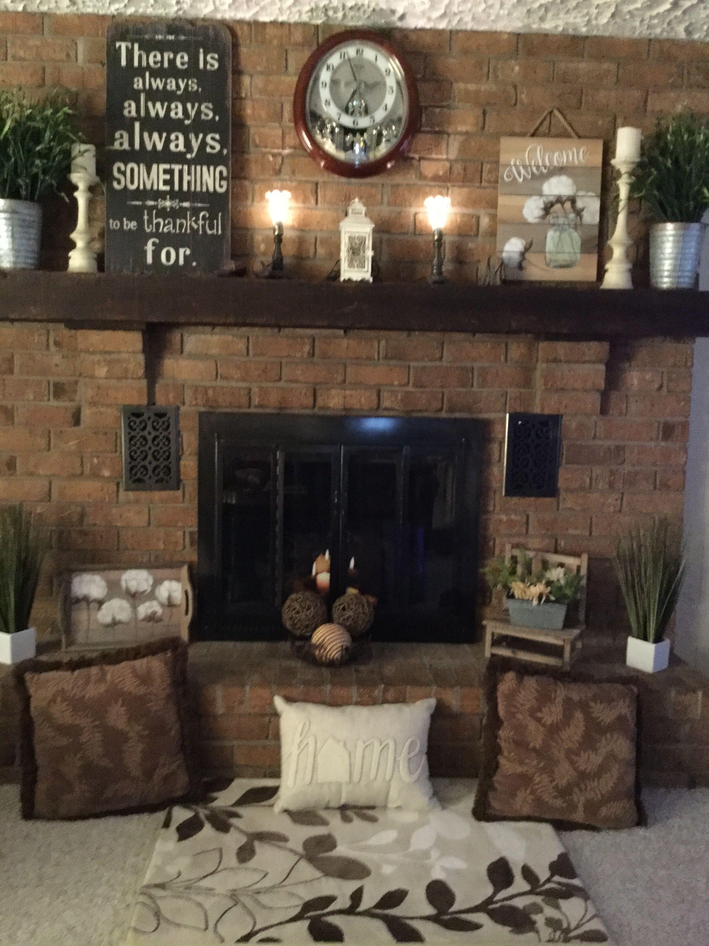 Fireplace Decor From Hobby Lobby Hobby Lobby Decor Fireplace Decor Decor