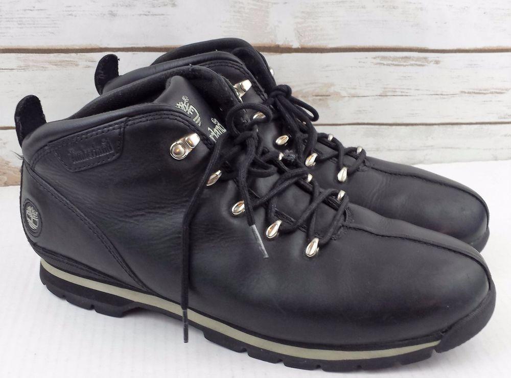 Timberland Splitrock Mens Black Leather Hiking Boots Size 12 M 95132   Timberland  HikingTrail eb5923e9f