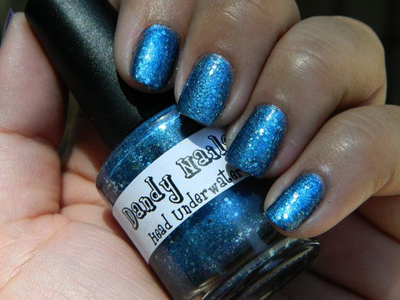 Head Underwater- Metallic-like blue with ice blue hexes along with fine gold and multiples blues.