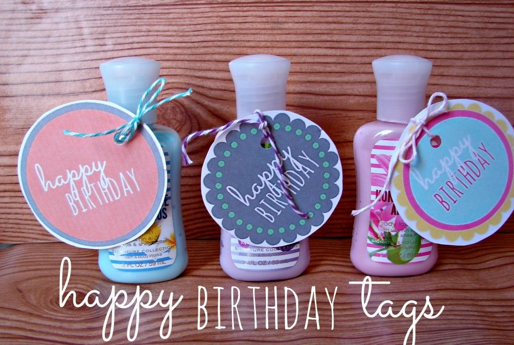 Free Birthday Tags ~ Happy birthday to you you look like a monkey and you smell like