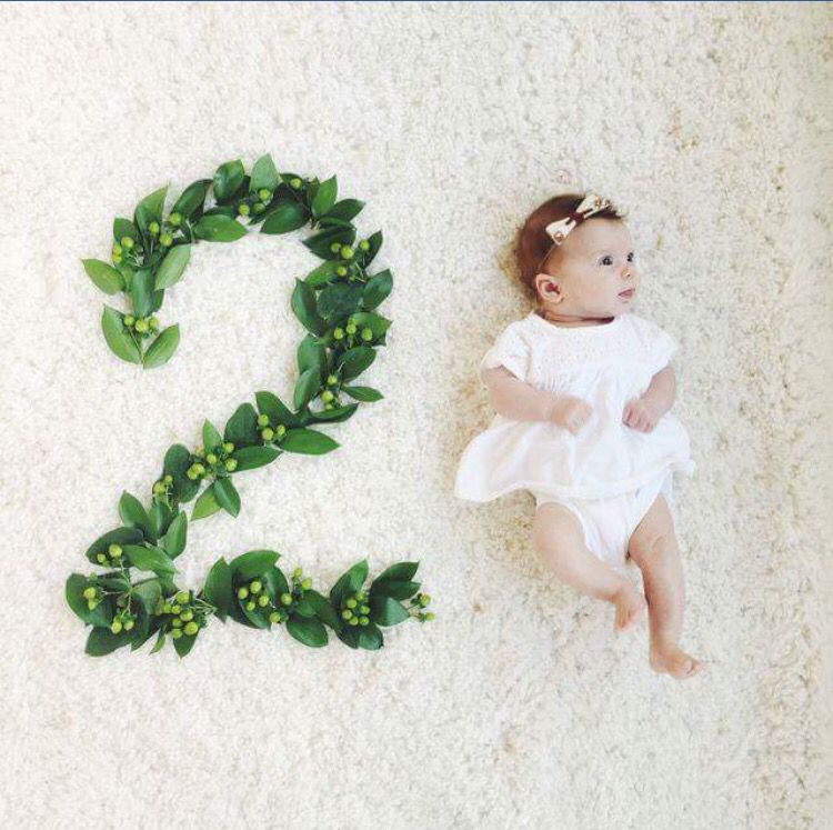 Flower Month Number Monthly Baby Photos Monthly Baby Pictures Baby Photoshoot