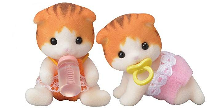 Calico Critters Maple Cat Twins ($9.95) | Calico critters ...