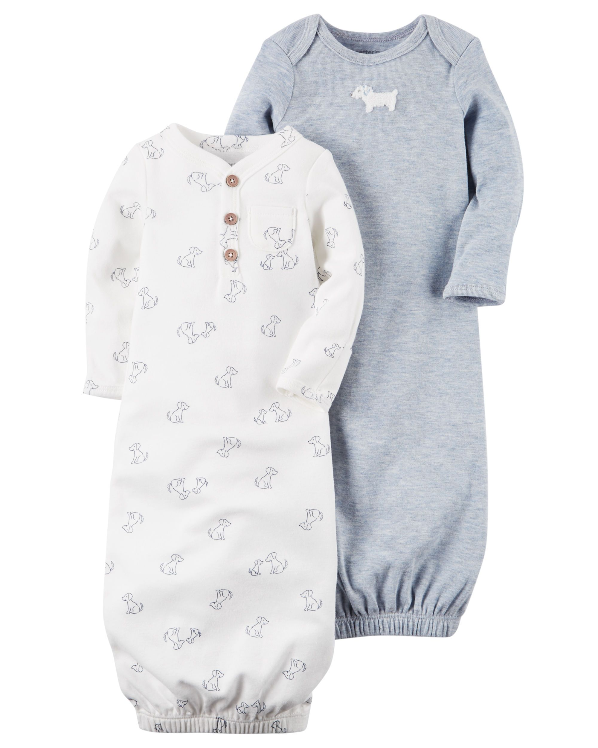 2f2732106 2-Pack Babysoft Heathered Sleeper Gowns | Baby Clothes | Carters ...