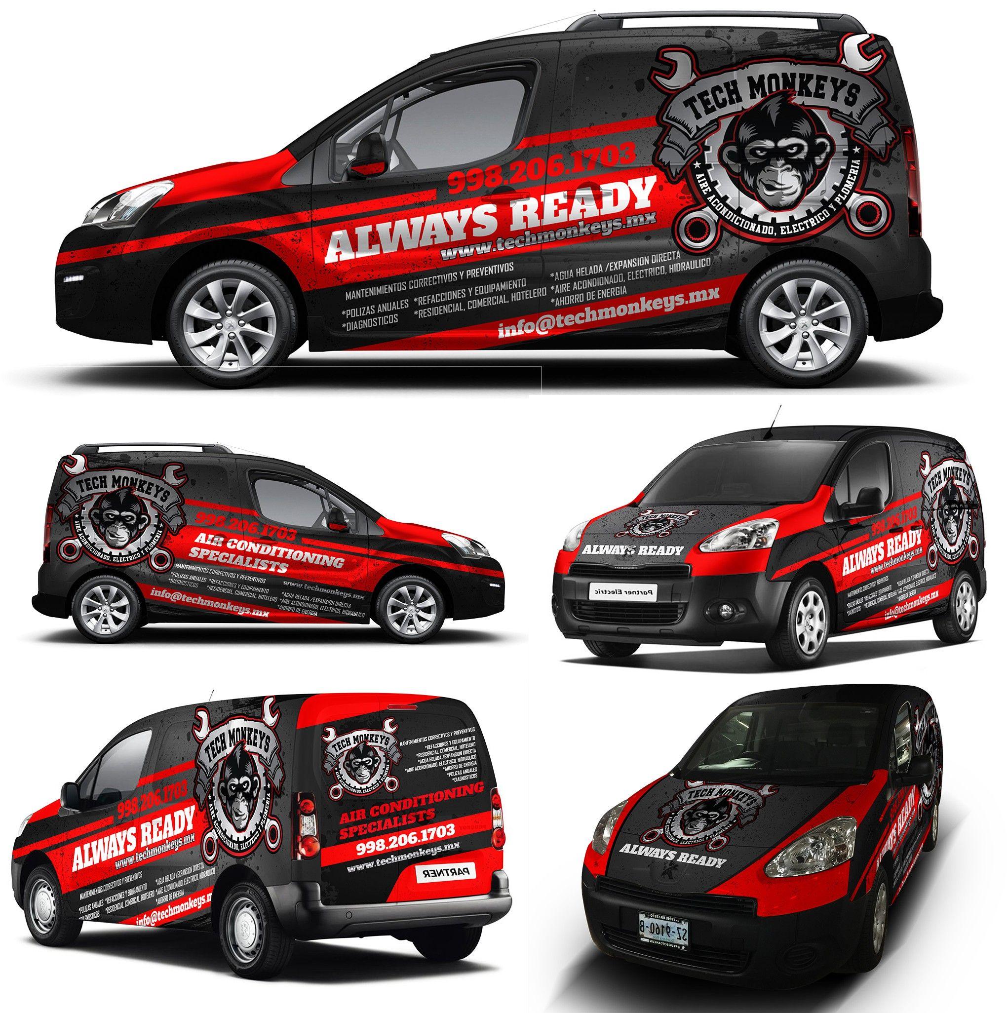 Fun Wrap For Techmonkeys Mx Van Wrap Car Wrap Van Design