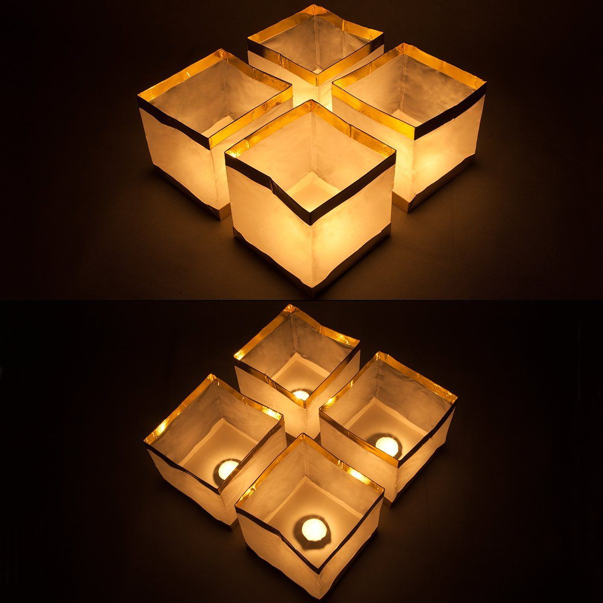 Pack Of 20 Water Floating Candle Lanterns Outdoor Biodegradable Lanterns For Praying 5 9 Inch Candle Lanterns Biodegradable Products Floating Candles