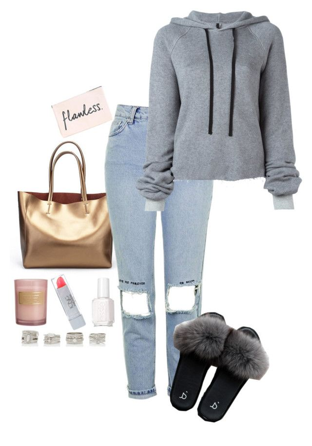 """""""Untitled #222"""" by i-nicole30 ❤ liked on Polyvore featuring Topshop, Unravel, Essie, Forever New and H&M"""