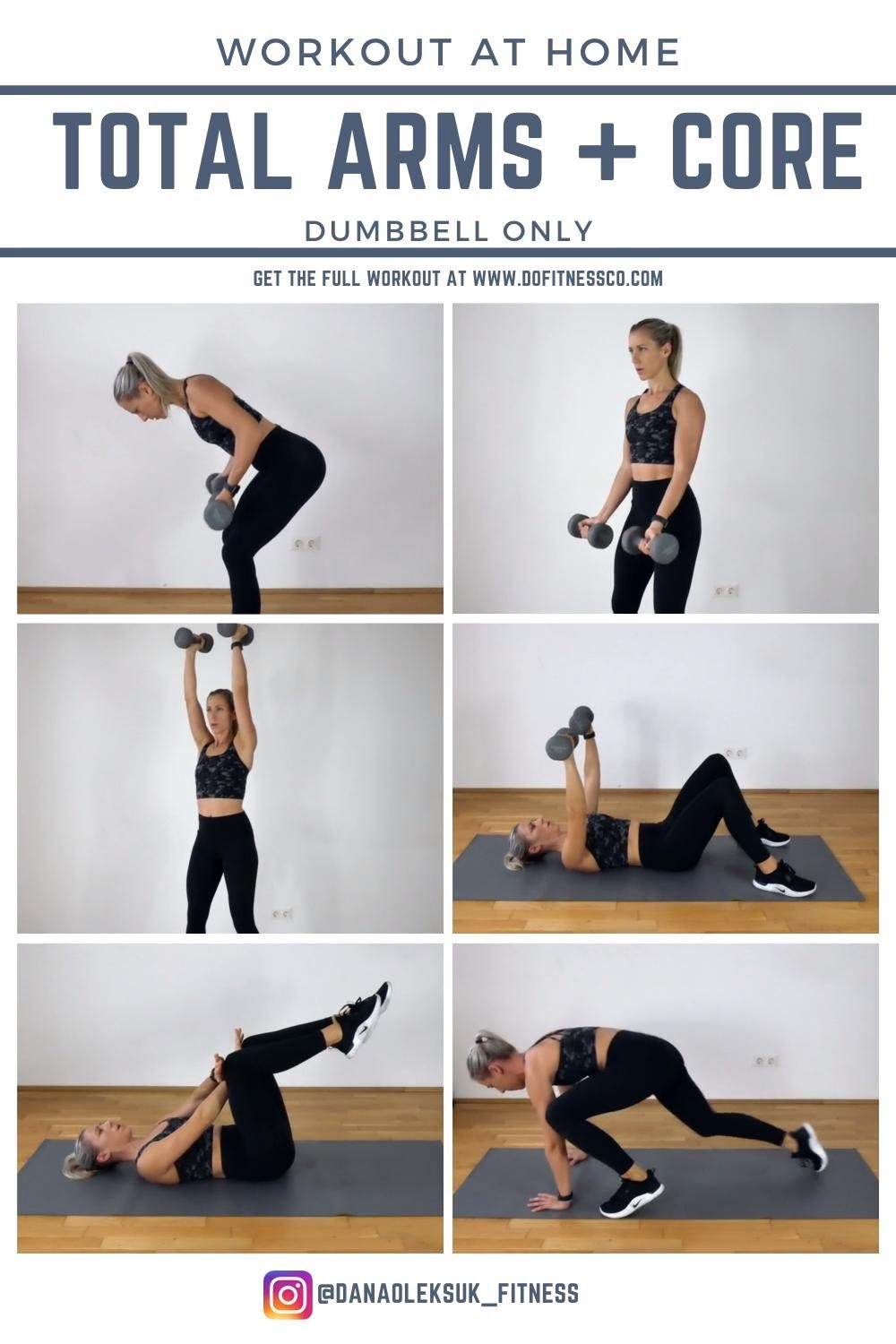 Total Arms + Core - At Home Friendly Workout!