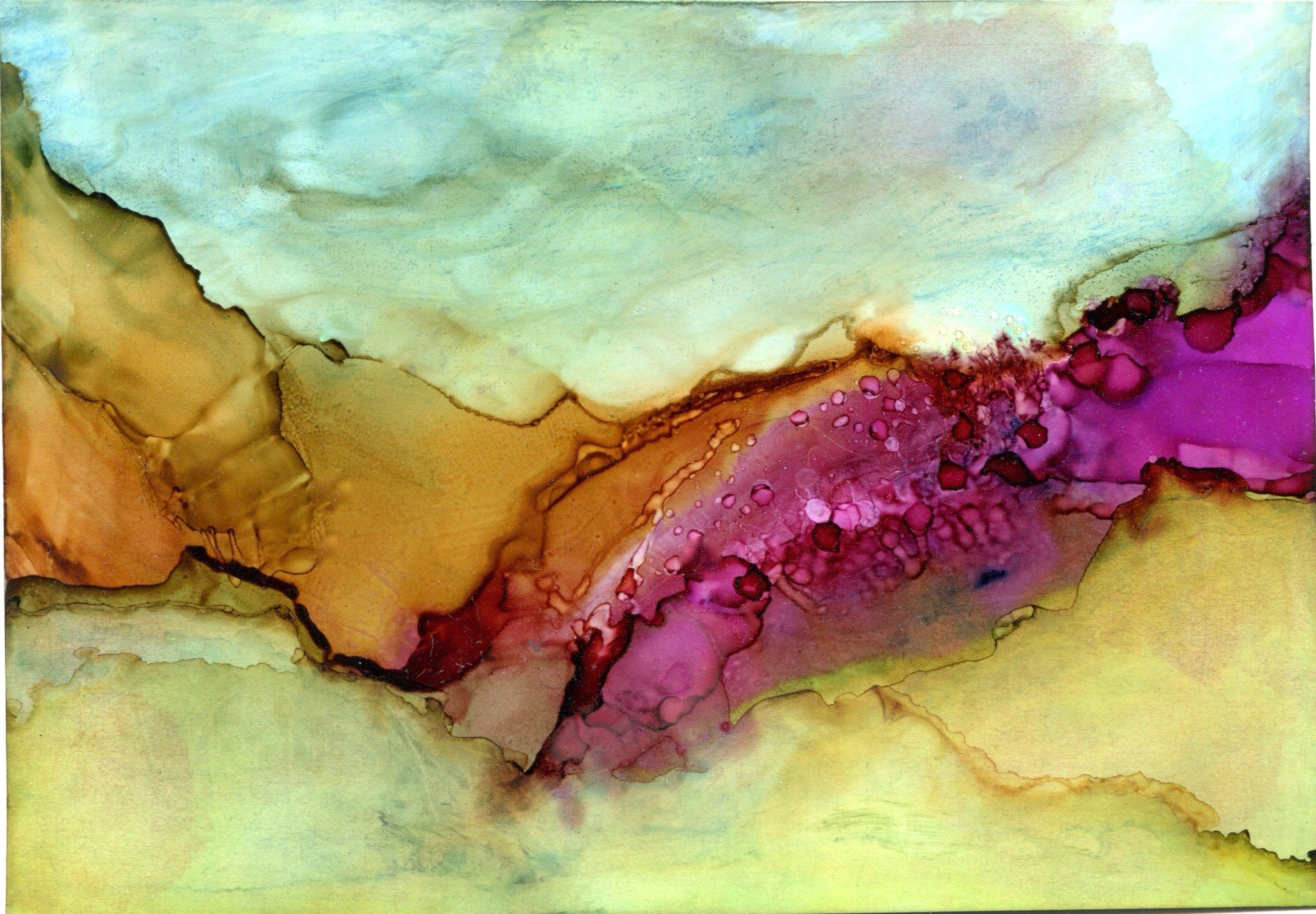 Alcohol ink by Susan Lucas.