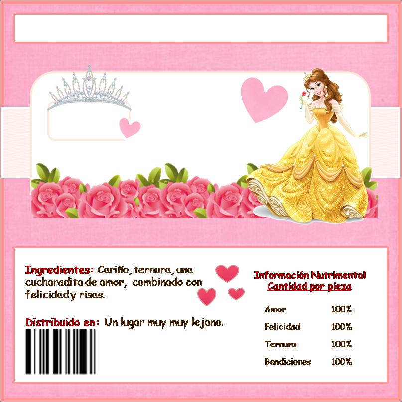Bella: Etiquetas de Chocolate para Imprimir Gratis. | princess ...