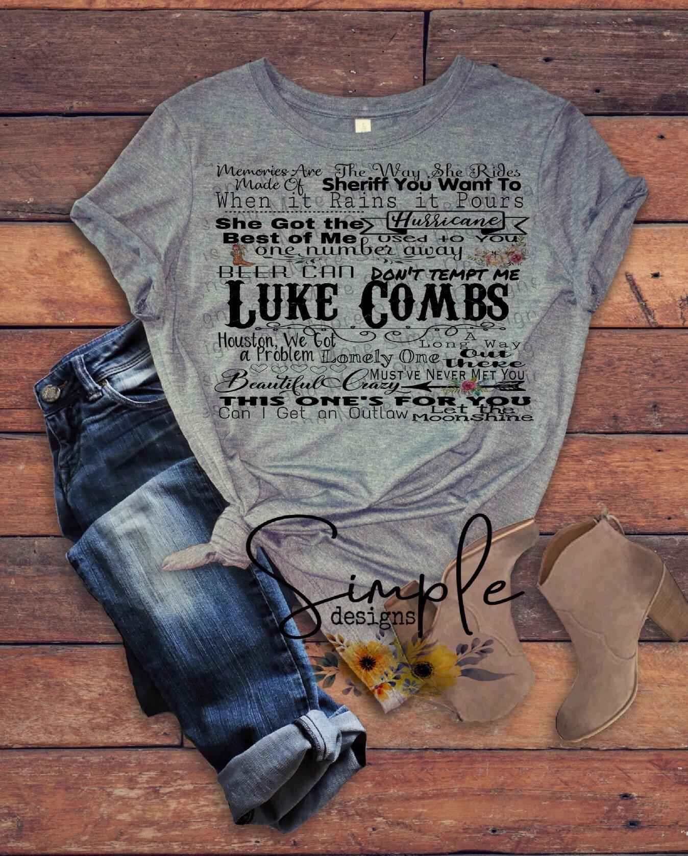 d3e6b4470bdf Luke Combs Lyrics T-shirt, Raglan, Country Music Lyrics in 2019 ...