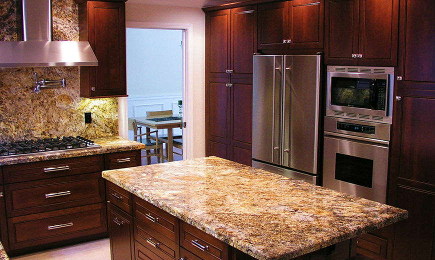 Traditional Gallery Royal Stone And Tile High End Kitchens Hickory Kitchen Granite Kitchen