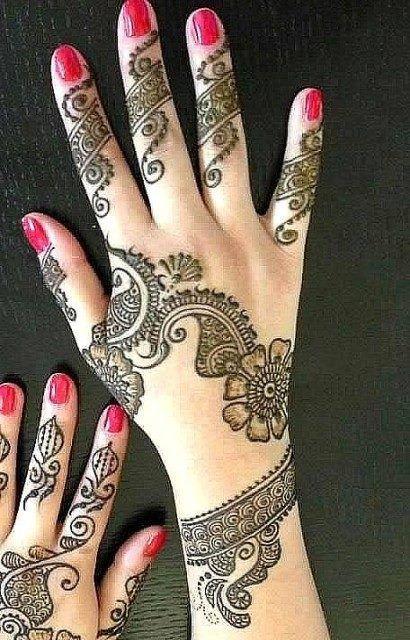 new mehndi designs for girls