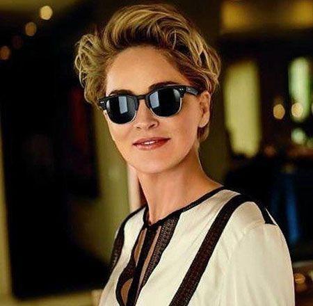 23 Neue Kurze Sharon Stone Frisuren Pinterest Promi Frisuren