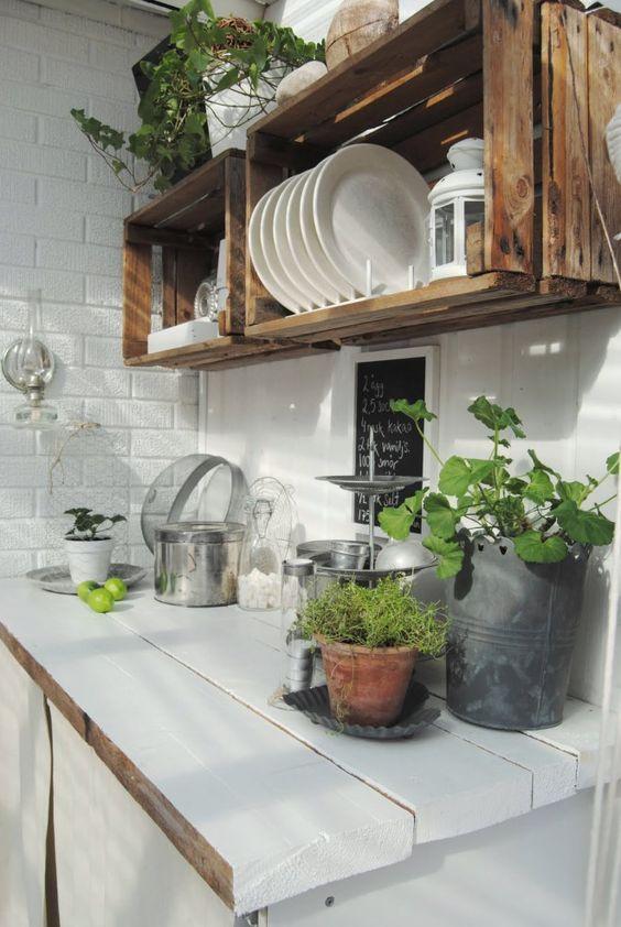 10 ideas de decoración para cocinas pequeñas | Rustic decor ...