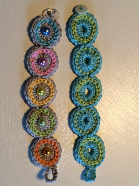 Gehäkeltes Armband - einfach und schnell | crochet | Pinterest ...