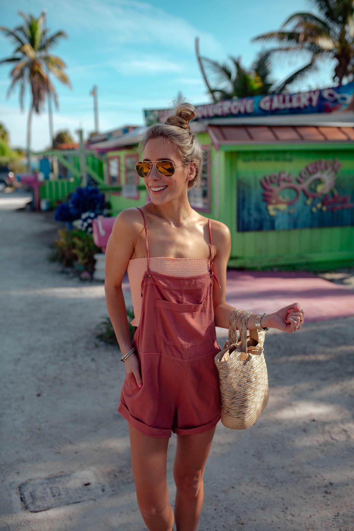 Overalls As A Bikini Coverup Trendy Spring Outfits Trendy Outfits Summer Outfits Women