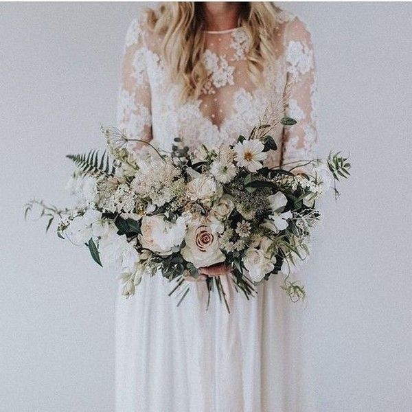 18 Charming Neutral Wedding Bouquets for 2018 Trends – Page 2 of 2