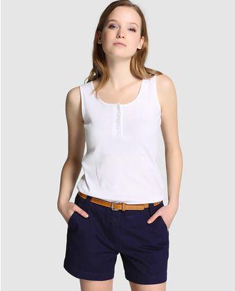 403726608fb1 Short de mujer Fórmula Joven azul marino con cinturón | Outfits ...