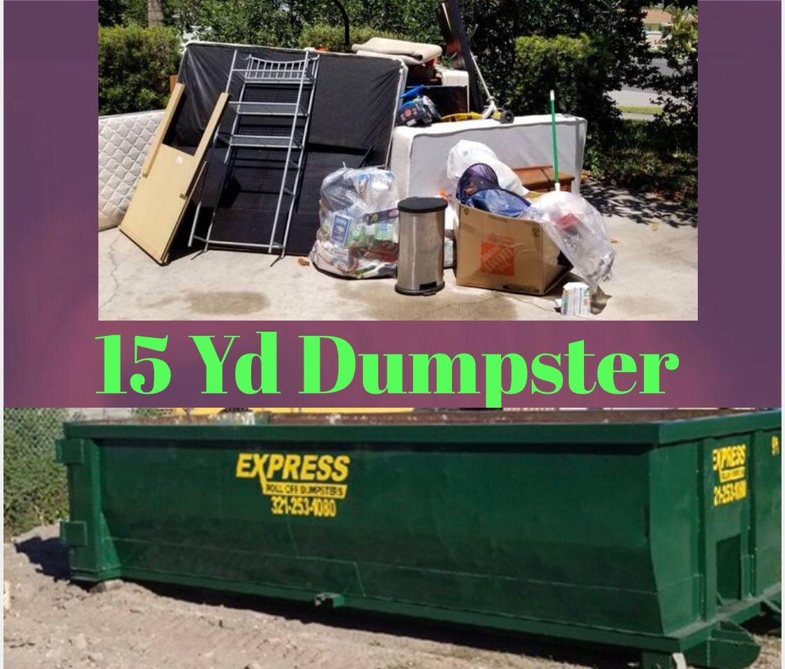 Residential Roll Off Dumpster Rental Melbourne Fl Palm Bay Dumpster Rental Dumpster Rental