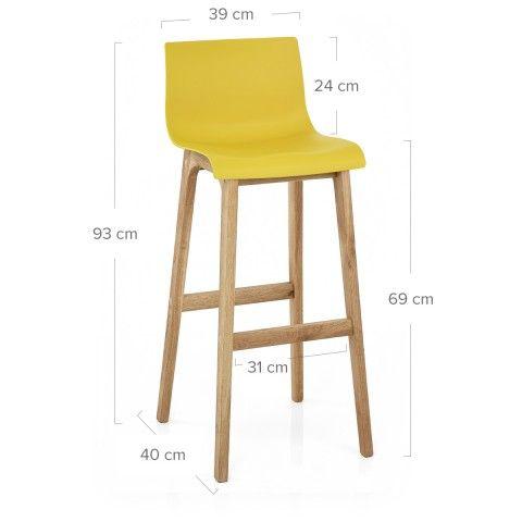 Drift Oak  Yellow Bar Stool Bar stools, Bar and Stools