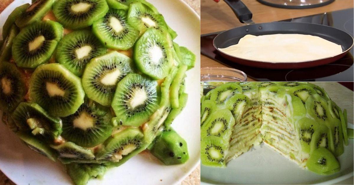 торт изумрудная черепаха с киви фото ультрамодные, уютные