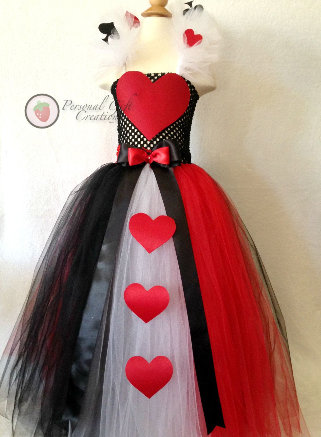 Queen of hearts tutu dress. by PersonalGCreation on Etsy