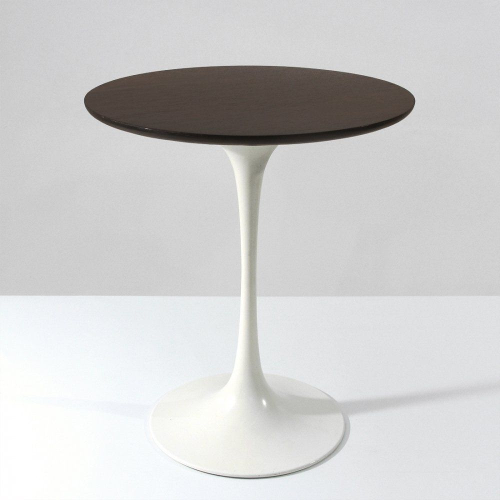 For sale midcentury round wooden top tulip coffee table