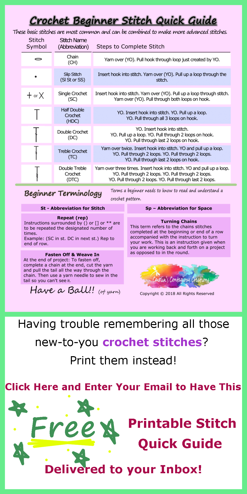 Pin On Free Crochet Printables And Downloads