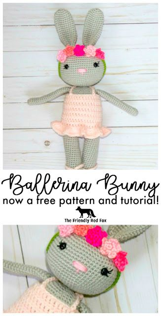 Free crochet bunny ballerina pattern! Make the slippers, dress and ...