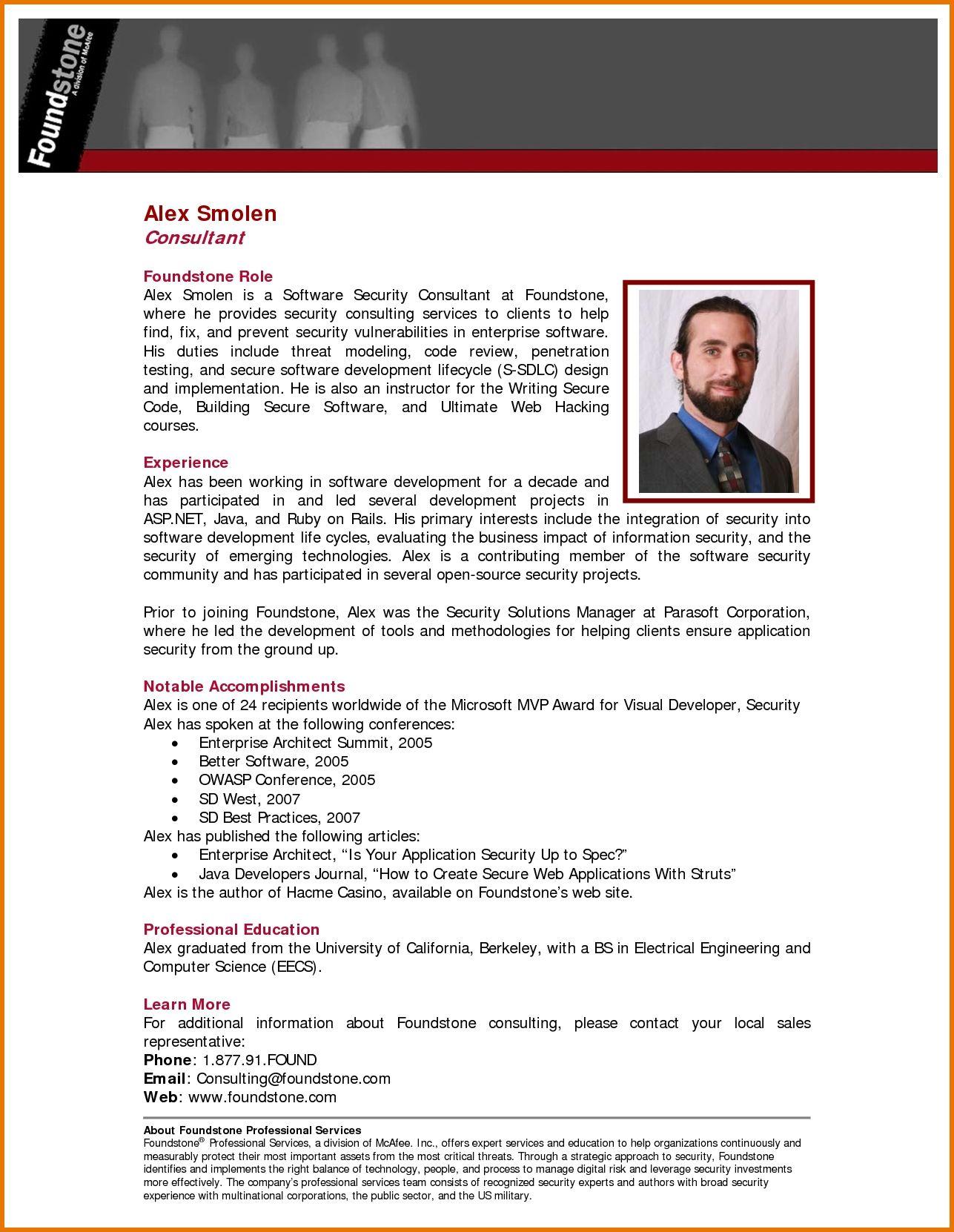 Bio Templates Kairo 9terrains Co Throughout Short Professional