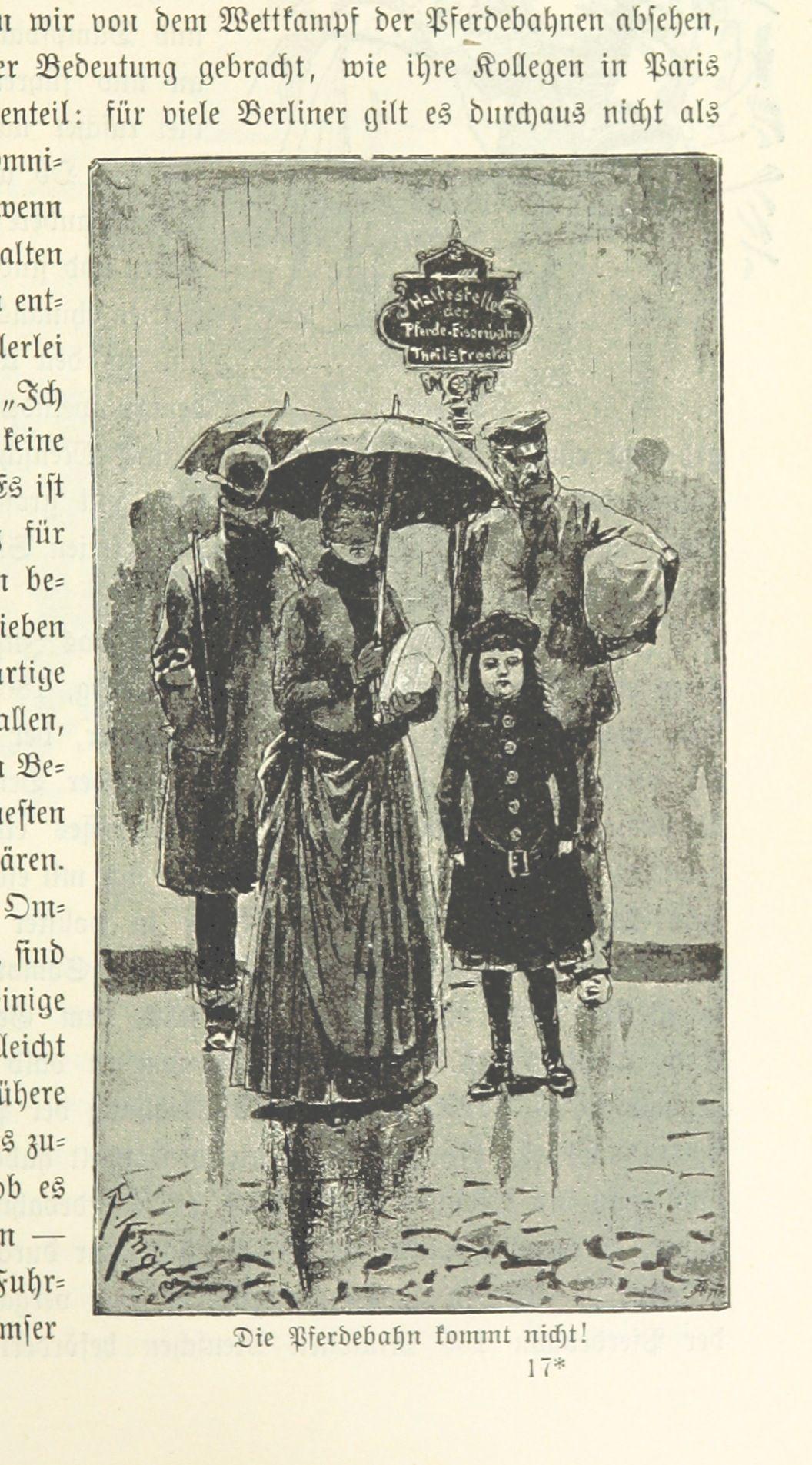 Berlin Die Pferdebahn Kommt Nicht 1894 Berlin German Heritage Vintage Images