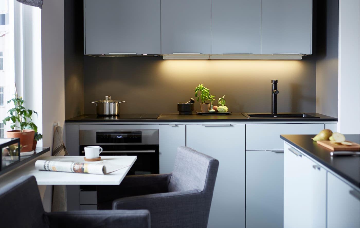 Maximise A Tiny Space Small Kitchen Ideas Small Kitchen Inspiration Ikea Small Kitchen Kitchen Inspirations