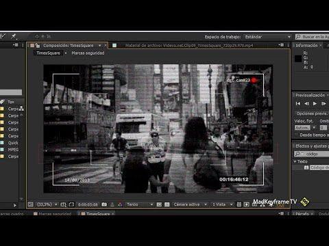 Efecto Cámara De Seguridad O Monitor Crt En After Effects Monitor Pandora Screenshot Visual