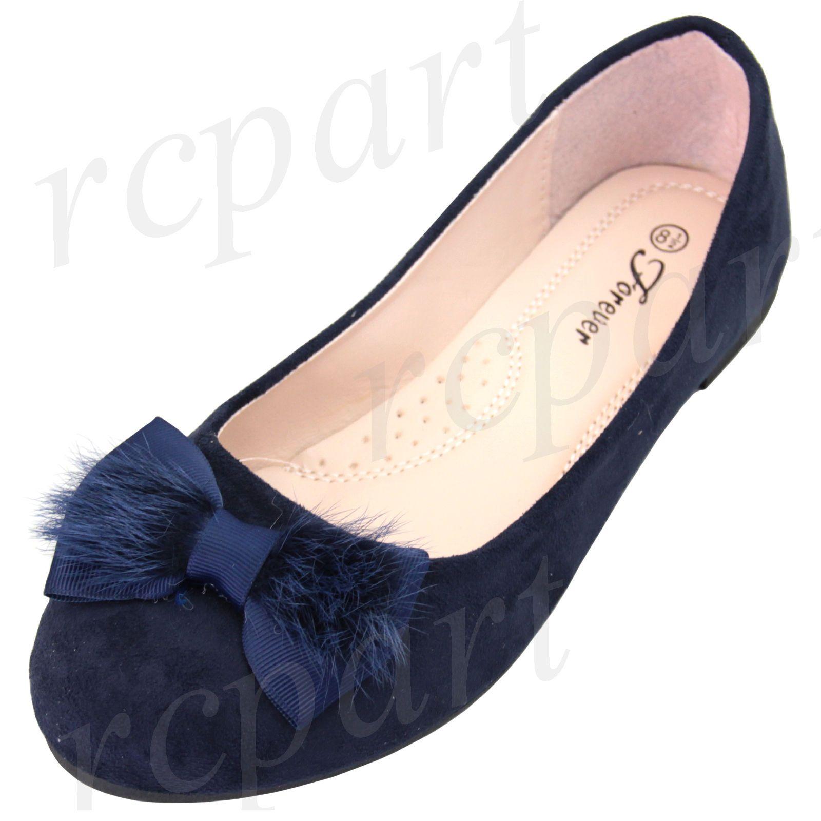 Navy blue dress shoes for wedding  Womenus Shoes Bow Ballerina Ballet Flats Wedding Casual Navy Blue